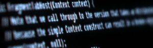 internet code screen pixelated